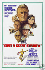 Cast a giant shadow Kirk Douglas movie poster print