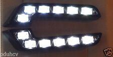 2x auto marcia diurna DRL luci LED XENO BIANCO LIT per AUDI MERCEDES VW BMW