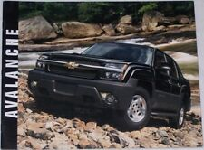 2003 03 Chevrolet  Avalanche sales brochure MINT