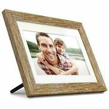 "Aluratek 10"" Distressed Wood Digital Photo Frame with Auto Slideshow, 1024 x 600"