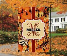 New listing Pumpkin Monogram Garden Flag, Personalized, Fall Garden Flag, Autumn Garden Flag