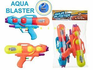 2 x Water Gun Pistol Aqua Blaster Pump Shooter Kids Toy Outdoor Summer Fun Party