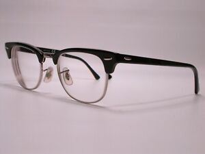Ray Ban Classic Black Chrome Club Master Browline Eyeglasses Classic Frames