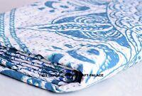 Indian Ombre Mandala Kantha Quilt Reversible Bedspread Bedding King Size Blanket