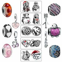 Silver Charms Bead New Fine Jewelry Fit European 925 sterling Bracelets Necklace