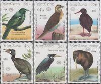 Laos 1220-1225 (kompl.Ausg.) postfrisch 1990 Vögel