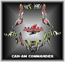 Can-am Commander 800 1000 Canam Can am  SEMI CUSTOM GRAPHICS KIT CW2