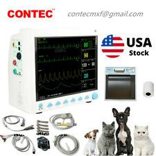 Veterinary Patient Monitor Vet Vital Signs Monior 6 Parameters Monitorprinter