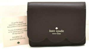 Kate Spade New York Magnolia Street Piper Small Wallet Chocolate Cherry New!