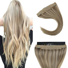 Sunny Invisible Halo Wire Human Hair Extension Blonde Highlights 16/22