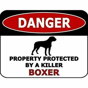 Top Shelf Novelties Warning Boxer Laminated Dog Sign