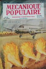 REVUE MECANIQUE POPULAIRE N° 036 MARINE VOITURE ANGLAISE THEATRE TIR ARC 1949