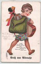"""377025) Leporello AK """"Mädchen mit Rucksack"""" aus Altenahr Krs. Ahrweiler gel.1938"""