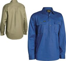 Bisley Workwear Closed Front Cotton Drill Shirt Long Sleeve (BSC6433)