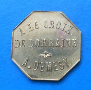 88 Vosges Remiremont A la croix de Lorraine , A. Demesy 15 centimes