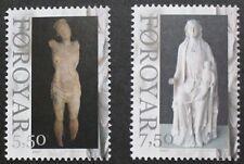 Art statues stamps, Faroe Islands, 2007, 2 stamp set, MNH