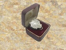 Diamond Form Victorian gilt silver vinaigrette Francis Clark, Birmingham 1845