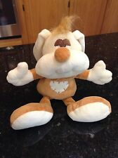 Brown Tan Cream Plush Puppy Dog Bunny Rabbit by Happy Snail RARE