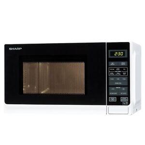 Sharp R272WM 20L Digital Microwave Oven - White