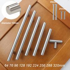 T Bar Stainless Steel Pulls Kitchen Cabinet Door Handles Drawer Knobs 1-50pack