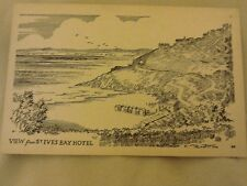 Postcard of a View from St.Ives Bay Hotel.A Drawing.