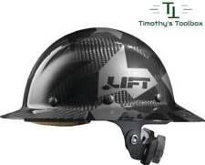 Lift Safety Dax Carbon Fiber Full Brim Hard Hat Black Camo New