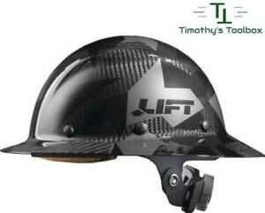 Lift Safety Dax Carbon Fiber Full Brim Hard Hat Black Camo- NEW