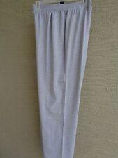 f7dc99758ac61 Woman Within Cotton Blend Stretch Knit Wide Leg Pants Plus M 14-16W Heather