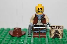 Custom Wild West Sheriff with Wanted Poster - Lego