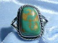 Classic Southwestern Natural Royston Turquoise Ring, Sterling, Size 7