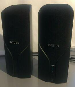 Pair of Philips Amplifiers 18x7x5cm: Connection cable 160cm, Socket cables 150cm