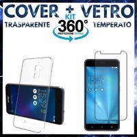 COVER + VETRO TEMPERATO Per ASUS ZENFONE 3 MAX ZC520TL Pellicola + Custodia TPU
