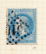 Francia 1862 Clásico Napoleón cuestión utilizado 20c. + Inferior Tablet defecto de la placa 146455
