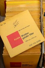 KODAK WRATTEN GEL 4X4 100MM  FILTERS -NOS, SEALED - YOUR CHOICE $16.99 FREE SHIP