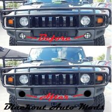 H2 Hummer DTR Day Time Running Lights Blackout Kit SUT SUV Blackouts Smoked