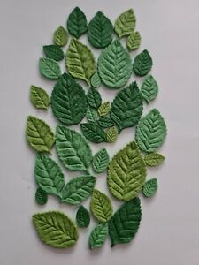 Edible Sugar Leaves in 3 Shades of Green