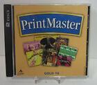 Printmaster Gold Version 16 2 Discs Broderbund Computer Software
