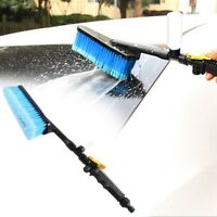 Car Wash Brush Water Spray Cleaning Tool Soft Bristle Long-handled Duster I6S2