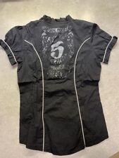 Chemise Enfant Femme Noir manches Courtes - Marque KAPORAL 5 - Taille 16 ans