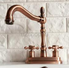 Antique Red Copper Deck Mounted Kitchen Bathroom Sink Faucet Mixer Tap Urg050