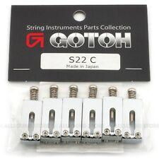 GOTOH S22 (6) Steel Bridge Saddles for Modern Telecaster Tele Guitar - CHROME