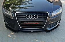 Cup Spoilerlippe SCHWARZ Audi A5 8T B8 S-Line S5 Frontspoiler Spoilerschwert