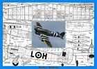 """Model Airplane Plans (UC): Hawker Typhoon 40"""" Scale for  .29-.35 by Paul Palanek"""