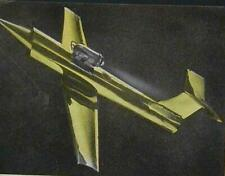 """Tether Jet Jetex powered 1959 How-To build PLANS Metal Foil 12""""wing"""