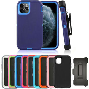 For iPhone 12 12 Mini Pro Max Case NEW Outer Defender Shockproof Cover w/ Clip