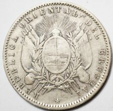 URUGUAY : 20 CENTESIMOS ARGENT 1893so