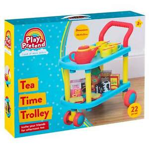 22Pcs Tea Time Trolley Play Set Includes Accessories Perfect For Kids 3+