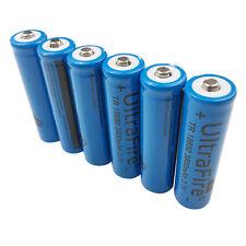 6X 3.7V 18650 3800mAh Li-ion Rechargeable Battery for Flashlight Torch UltraFire