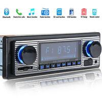 Car Stereo Radio Bluetooth In-dash Head Unit Player FM MP3/SD/USB/AUX for iPod