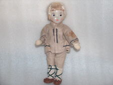 Vintage Character Plastic And Cloth Doll, Straume Factory - Latvia, Ussr, 1970s